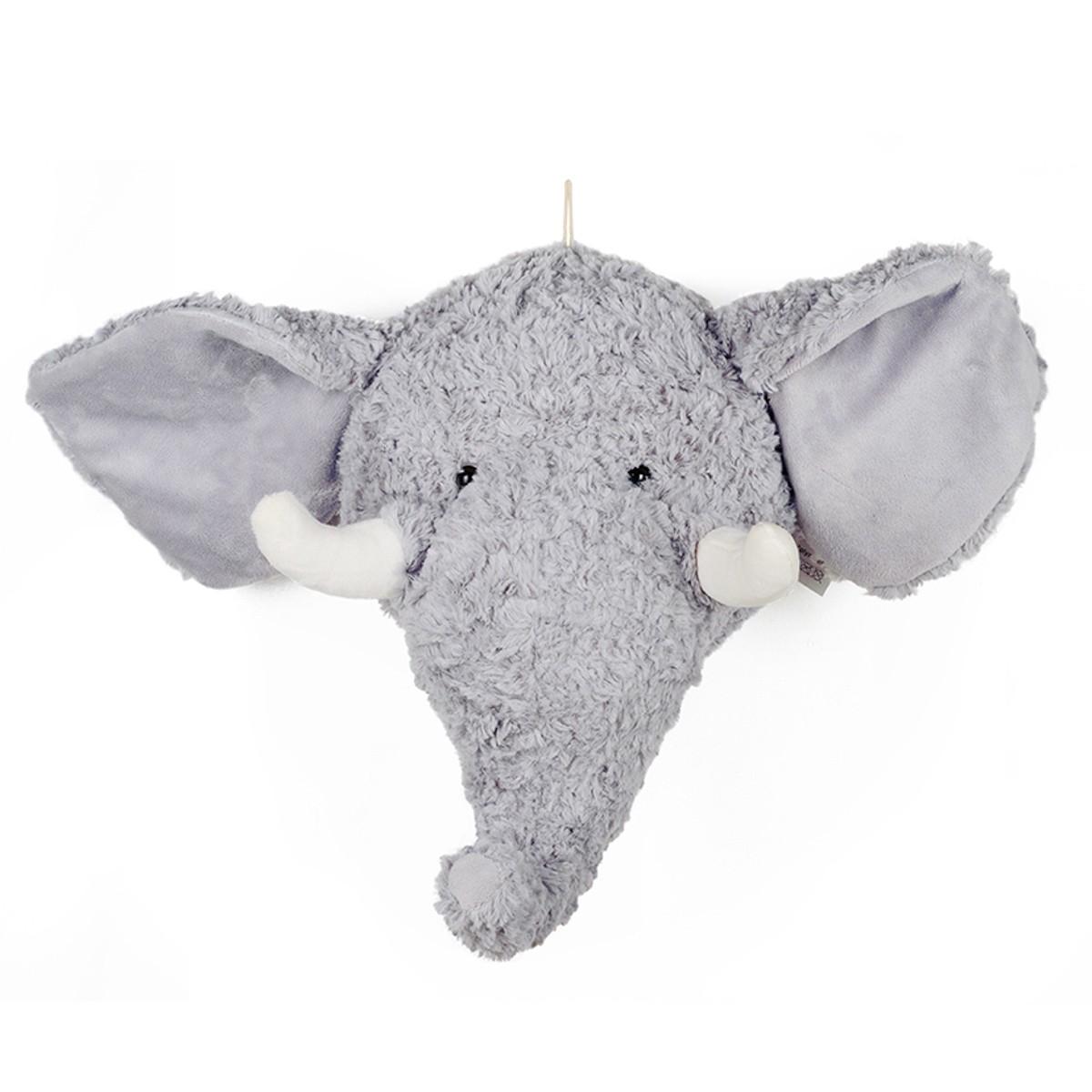 Pelúcia Decorativa Cabeça de Elefante
