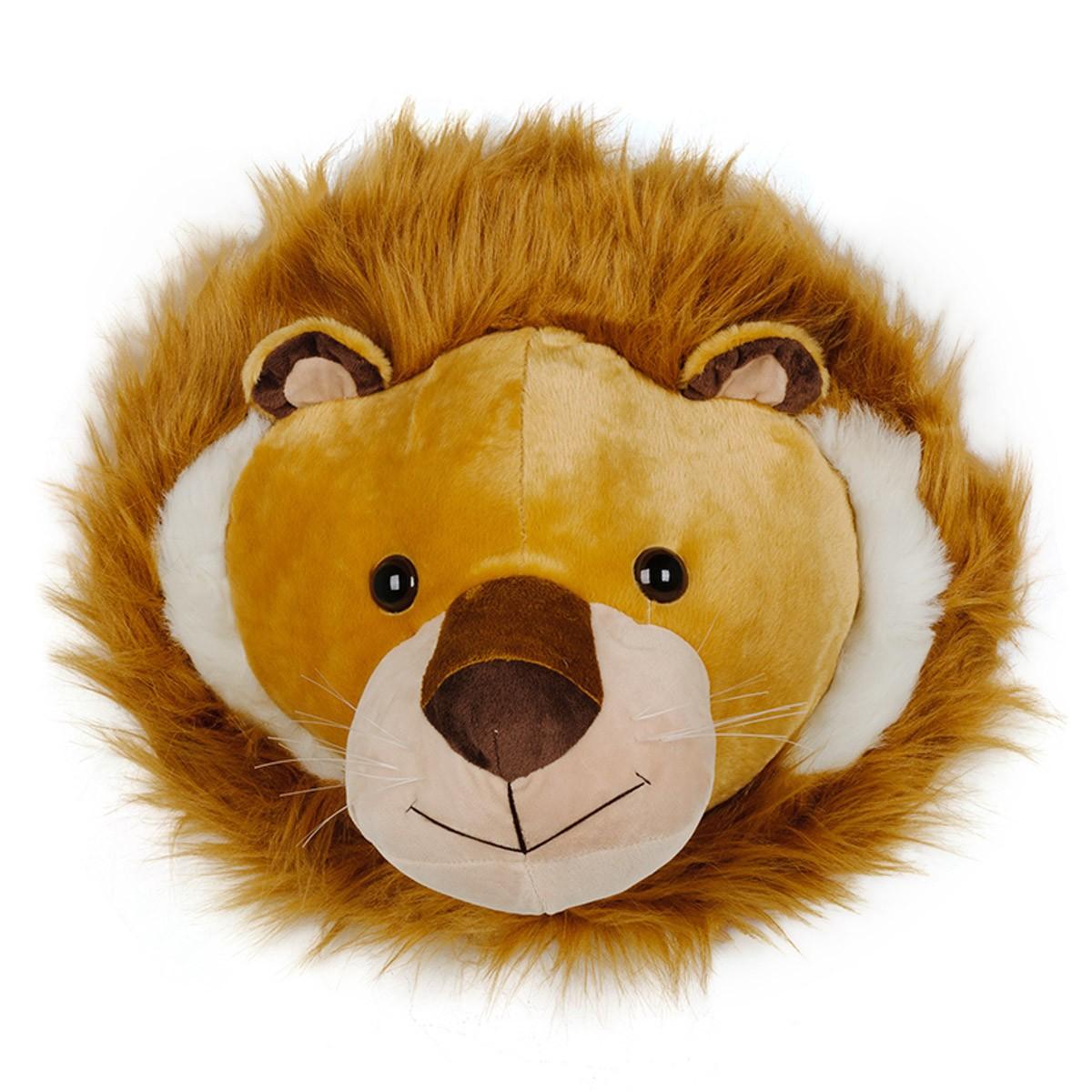Pelúcia Decorativa Cabeça de Leão
