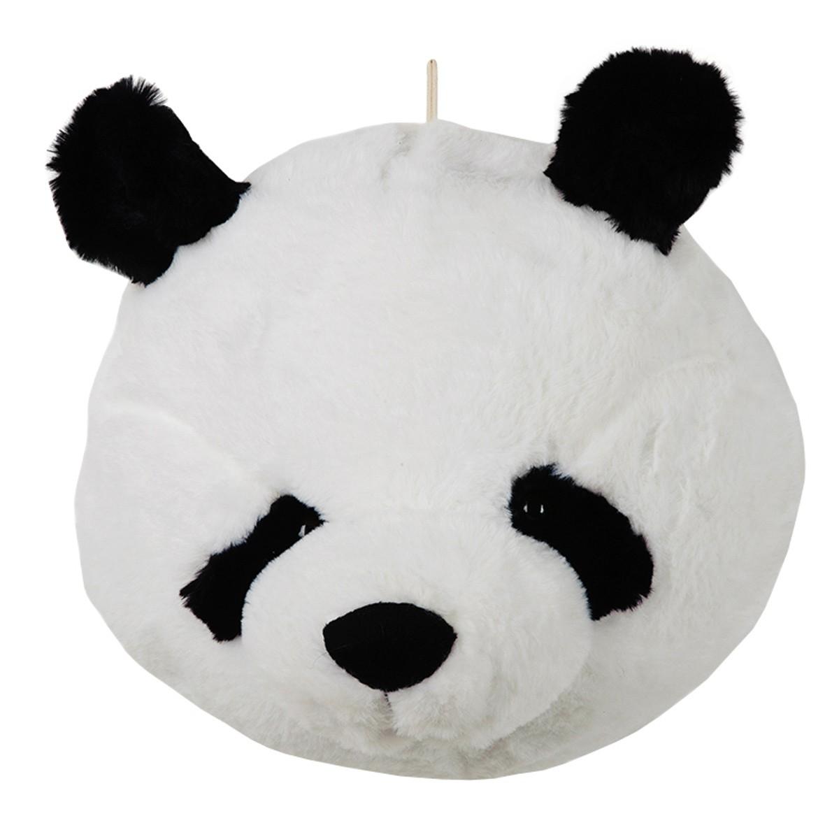 Pelúcia Decorativa Cabeça de Urso Panda