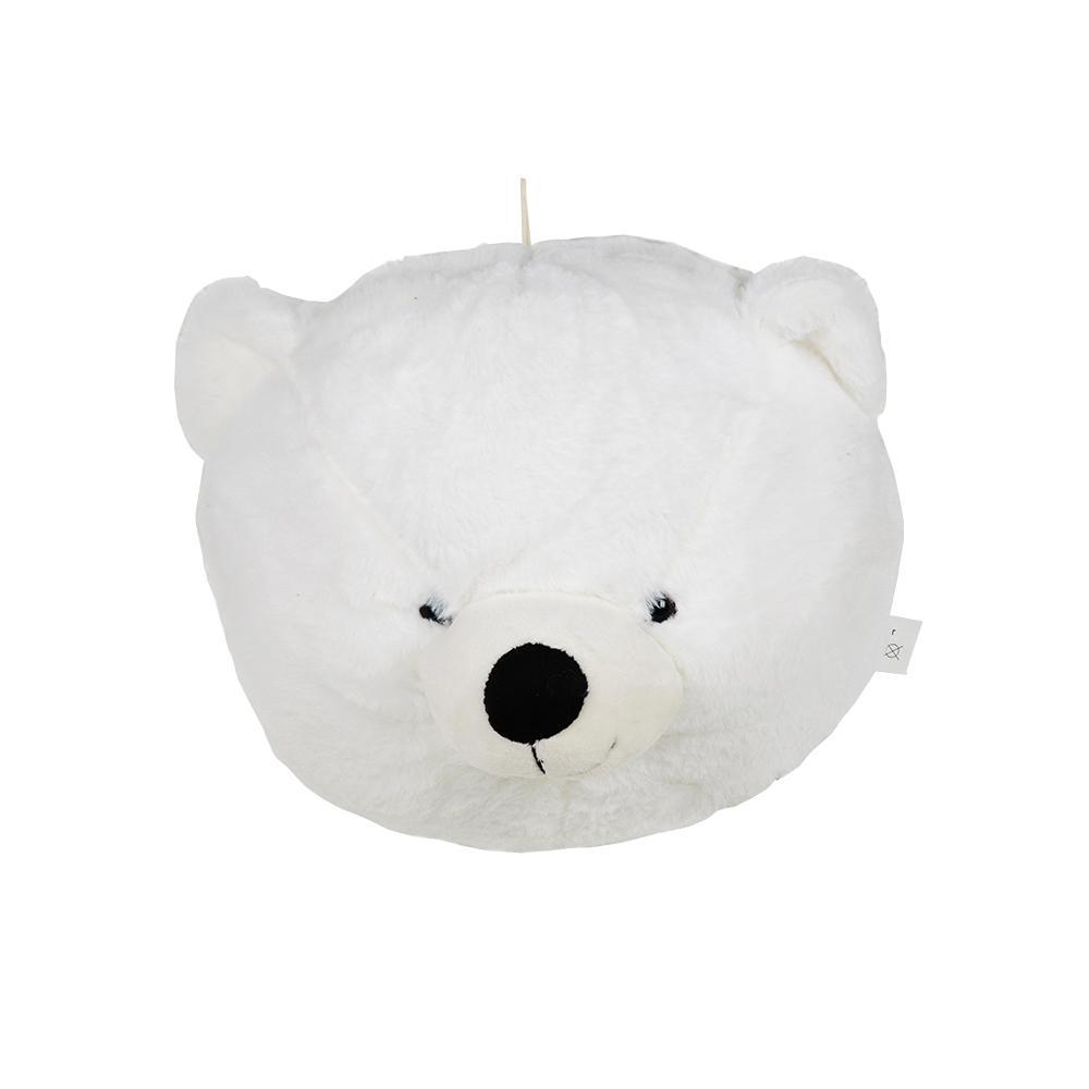 Pelúcia Decorativa Cabeça de Urso Polar