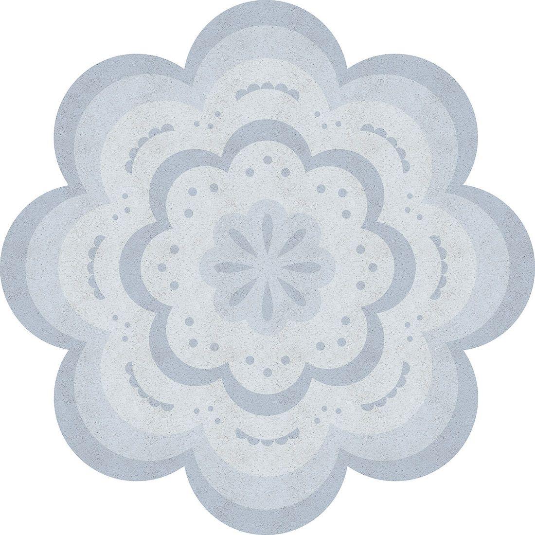 playmat flores azul 100x100cm