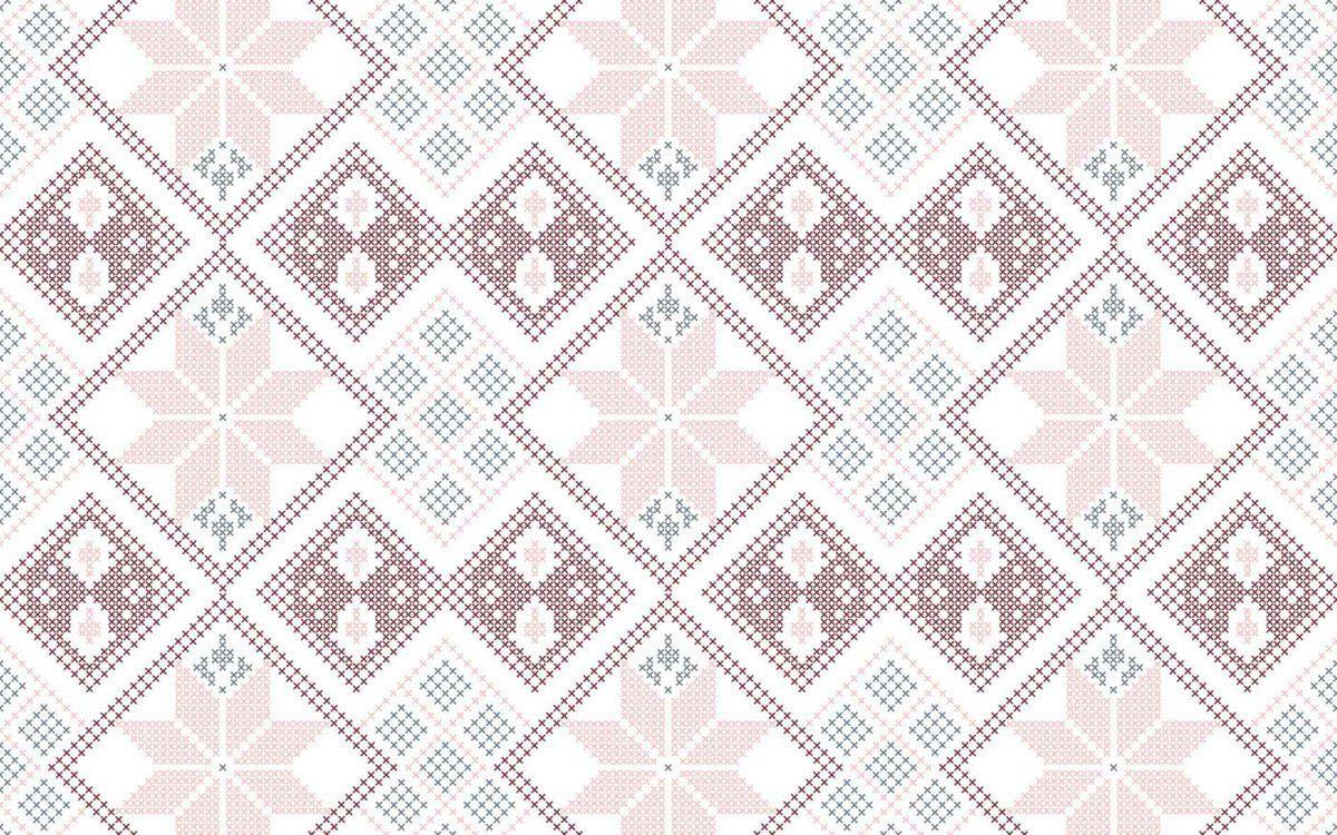playmat ponto e cruz rosa e vinho 100 x 160 cm