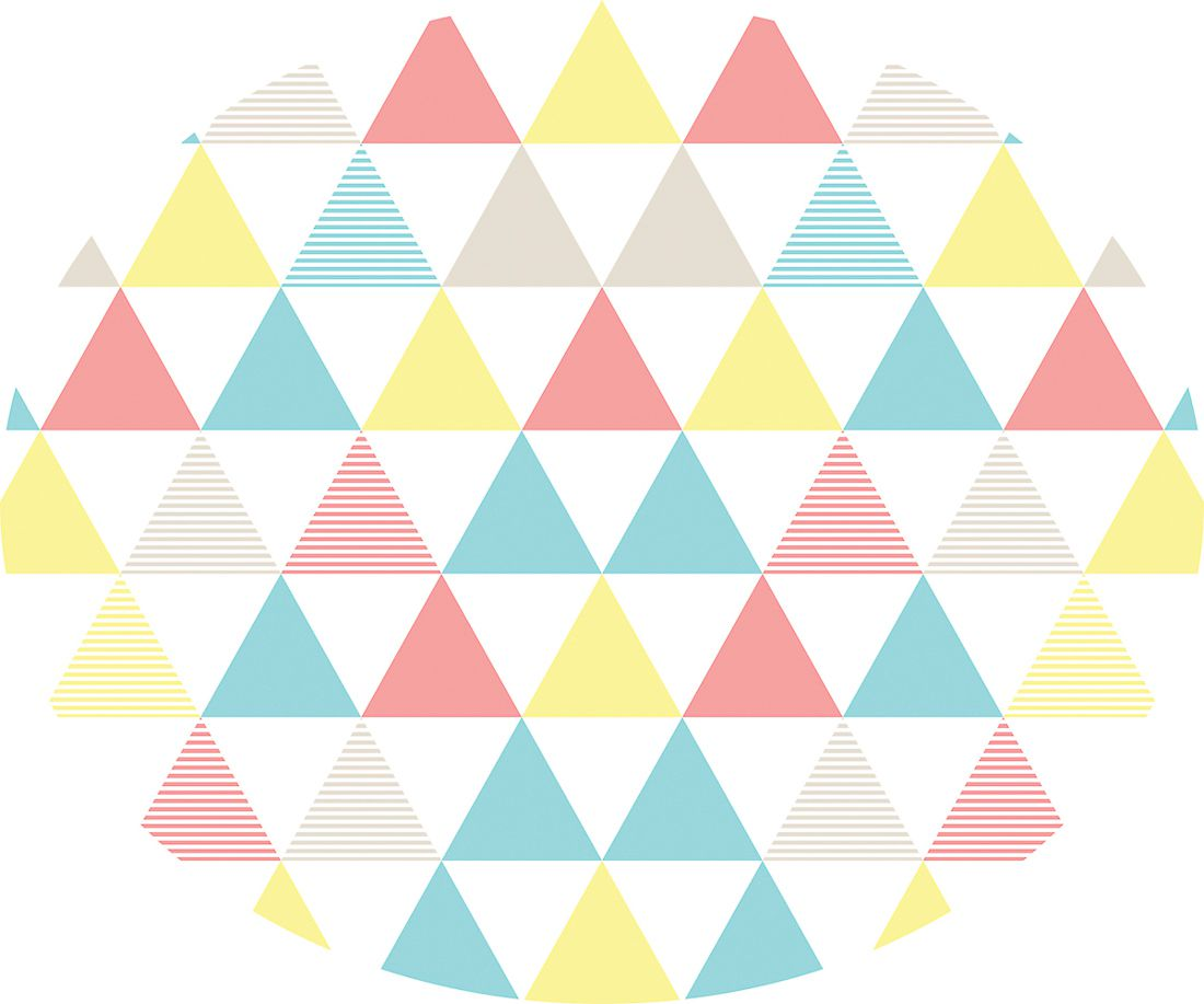 playmat triângulos coloridos