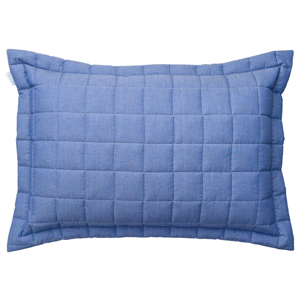 Porta Travesseiro Chambray Azul Jeans