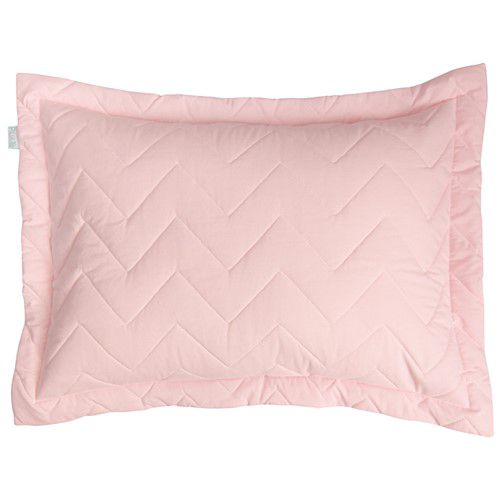 Porta Travesseiro Percal 200 Fios Chevron Rosa Suave