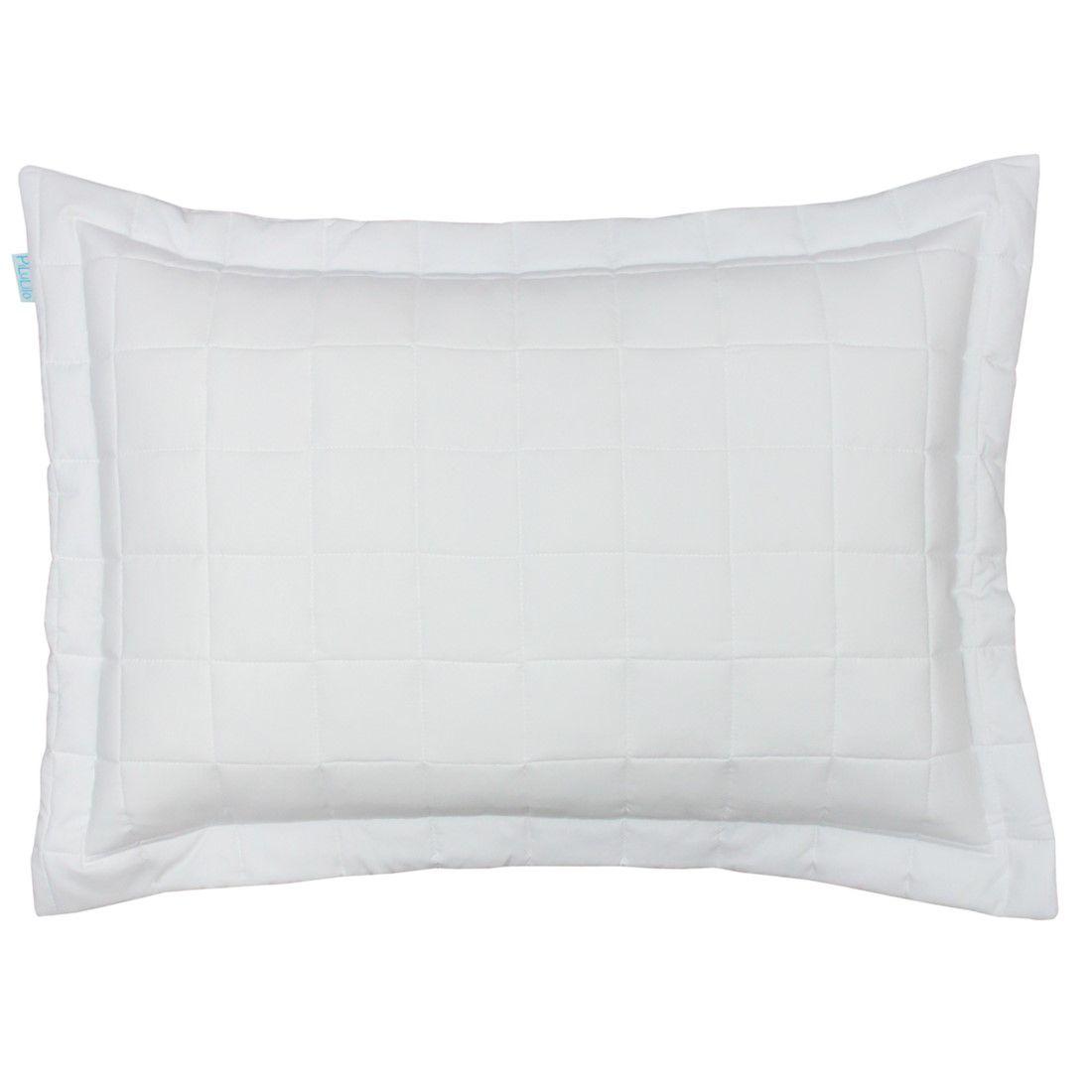 Porta travesseiro percal 200 fios cubos branco