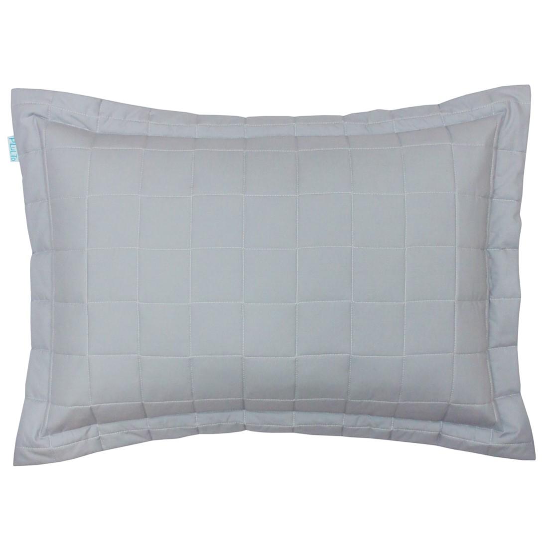 Porta travesseiro percal 200 fios cubos cinza