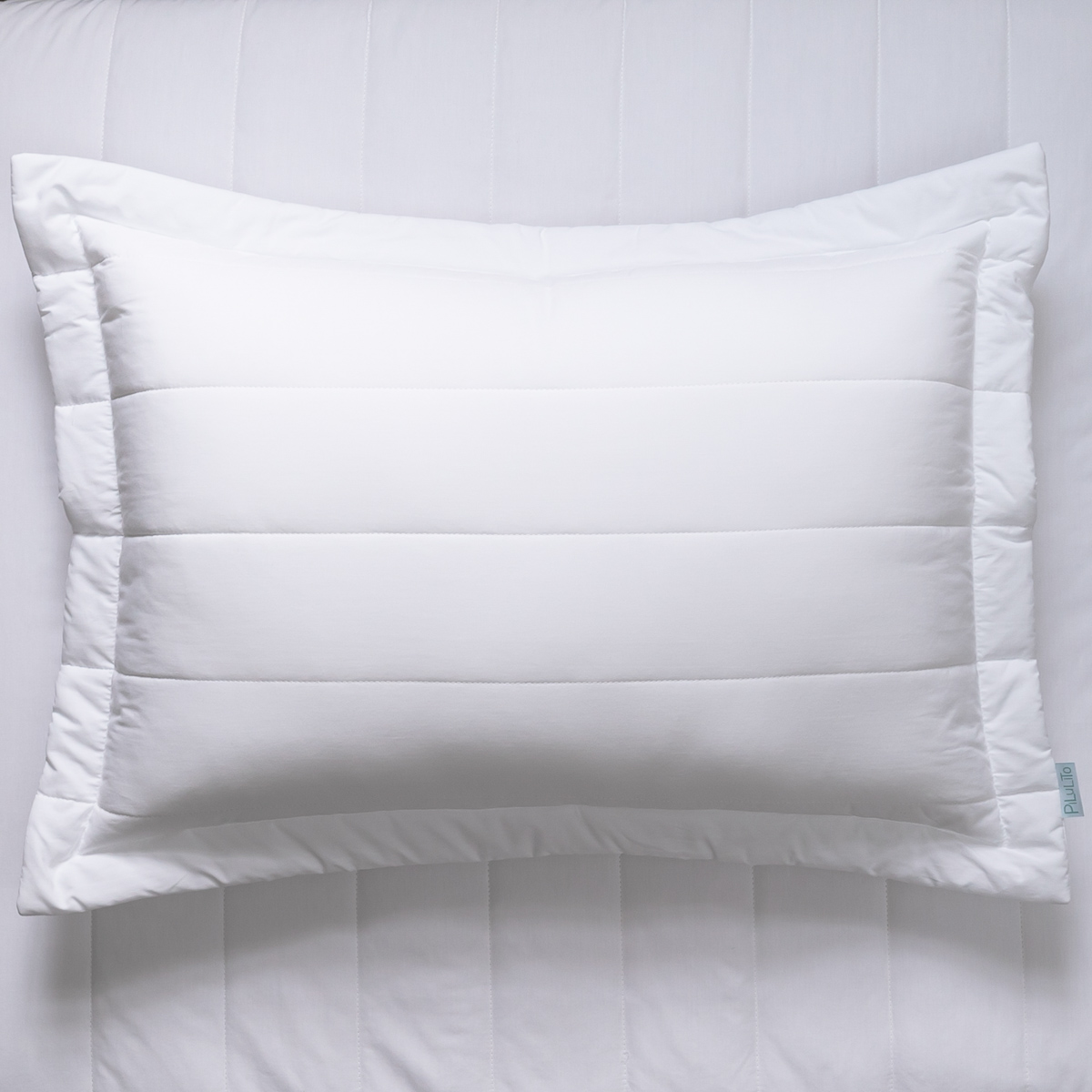 Porta Travesseiro Percal 200 Fios Listras Branca