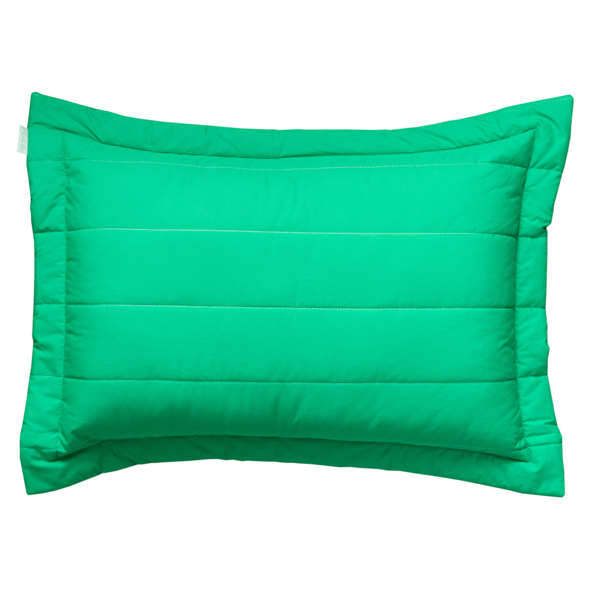 Porta Travesseiro Percal 200 Fios Listras Verde Esmeralda