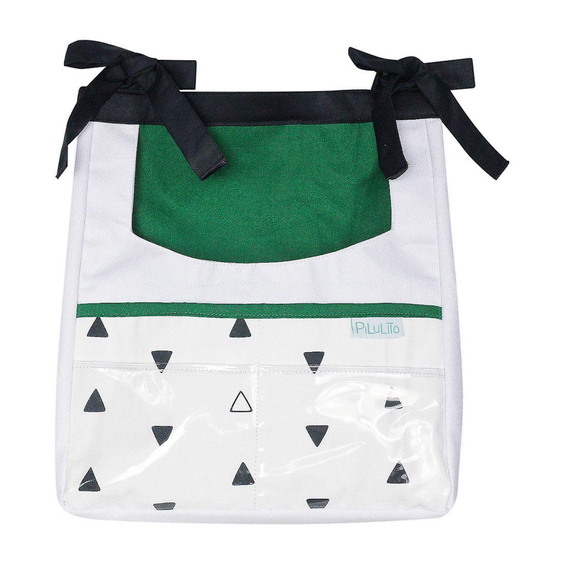 Porta-trecos triângulos PB com verde malaquita