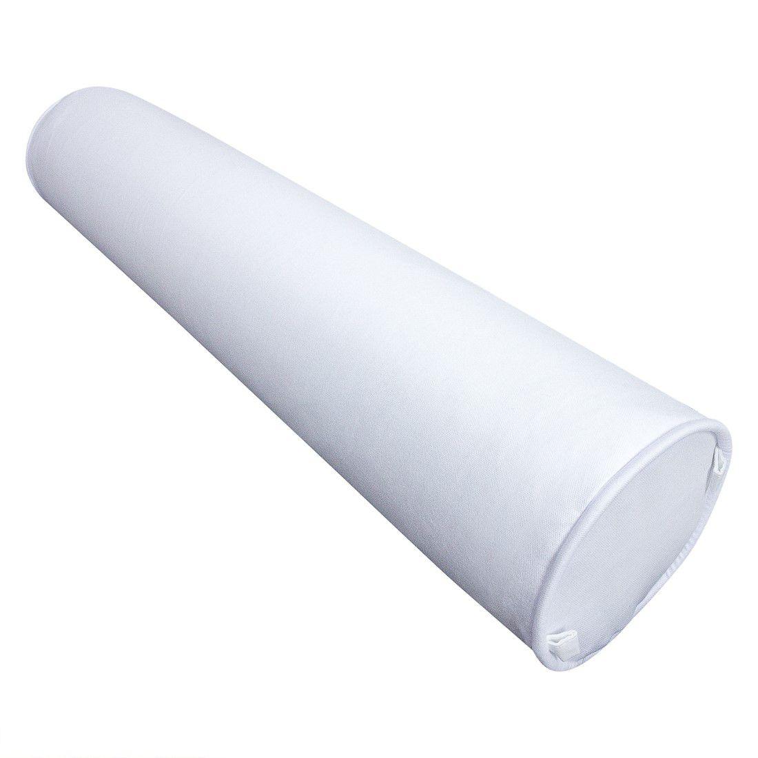 Rolinho peseira para berço 46 cm branco