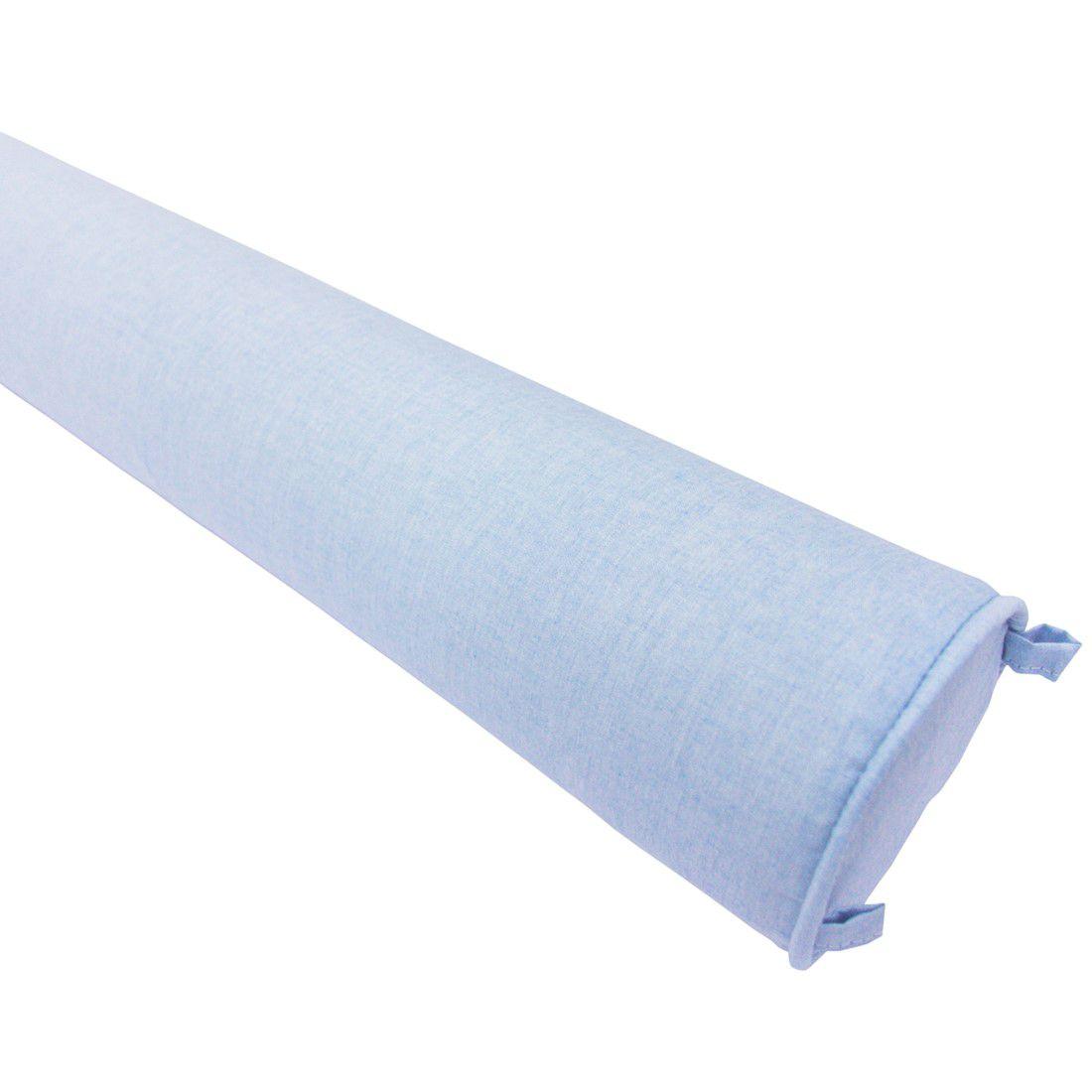 Rolo lateral para berço 130 cm azul céu