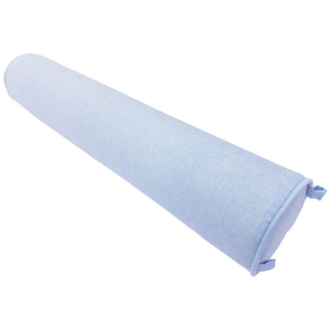 Rolo para cama 90 cm azul céu