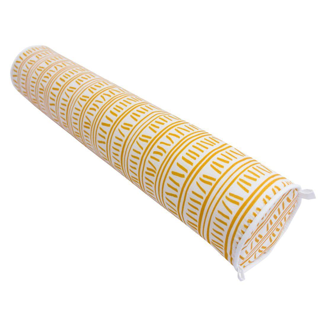 Rolo para cama 90 cm trilha amarelo ocre