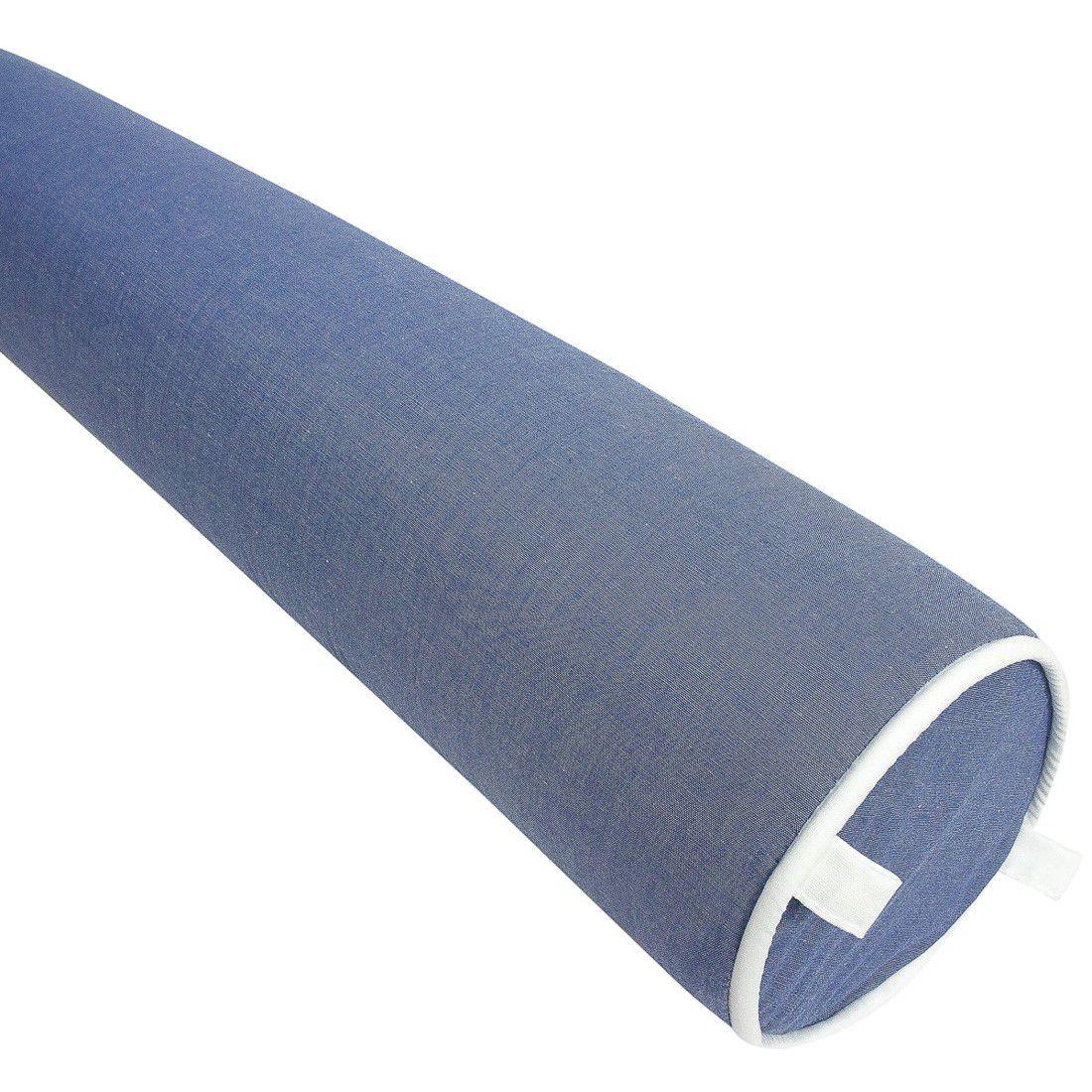Rolo para cama solteiro 188 cm azul jeans
