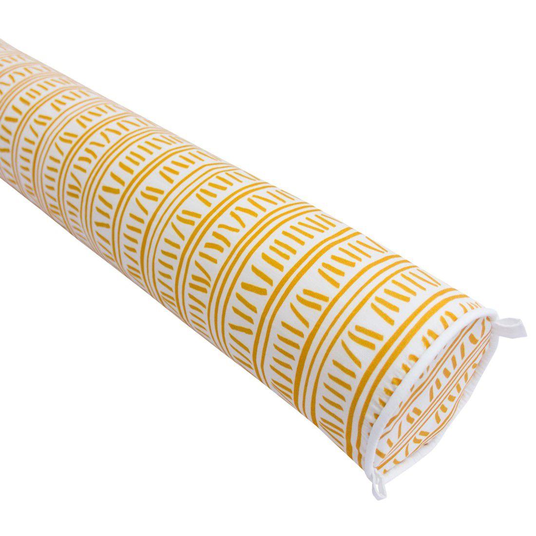Rolo para cama solteiro 188 cm trilha amarelo ocre