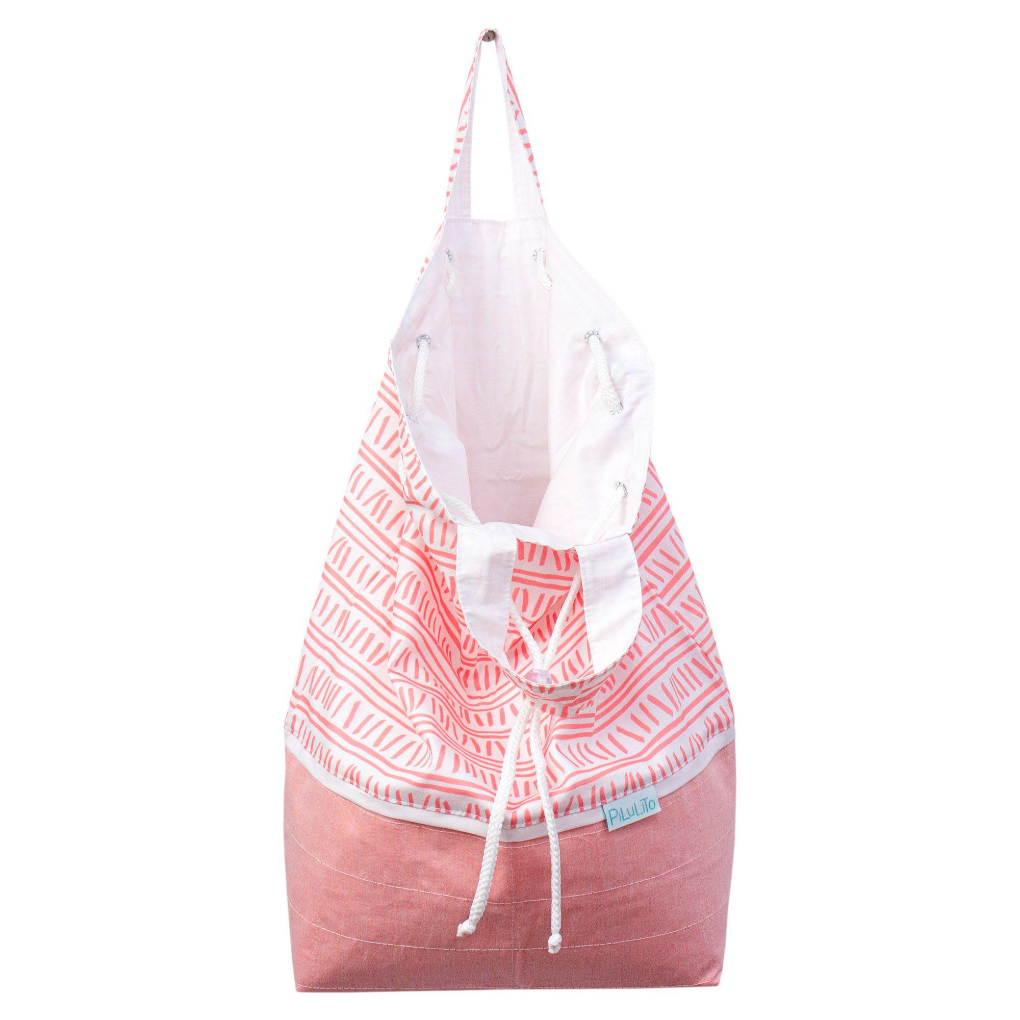 Sacola para roupinhas sujas trilha rosa