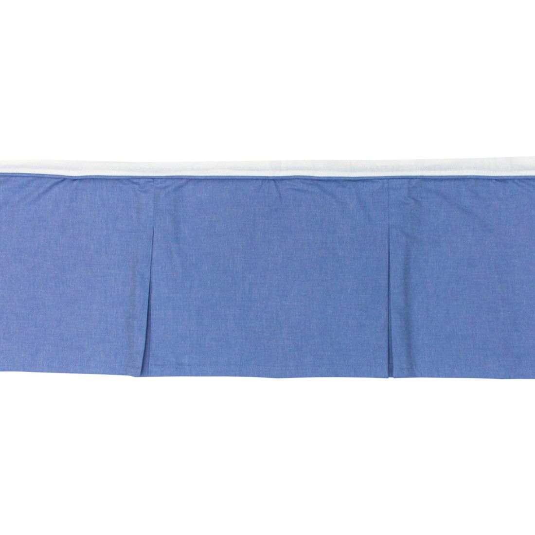 Saia berço padrão americano azul jeans