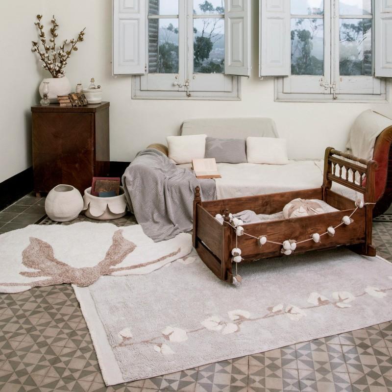 Tapete Lorena Canals Bolinhas cotton 170 x 120 cm