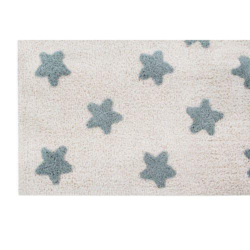 Tapete Lorena Canals Estrelas Natural Azul Vintage 120x 160 cm