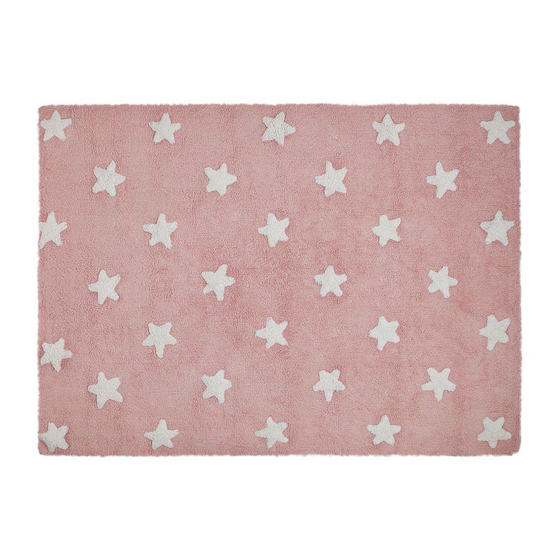 Tapete Lorena Canals Estrelas Rosa 120 x 160 cm