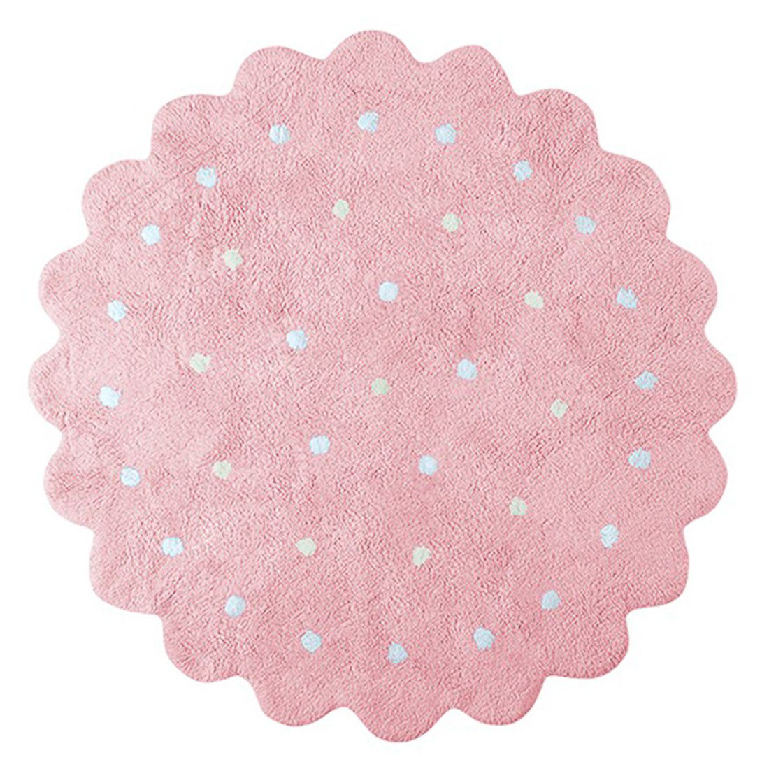 Tapete Lorena Canals Galletita Rosa 140 cm