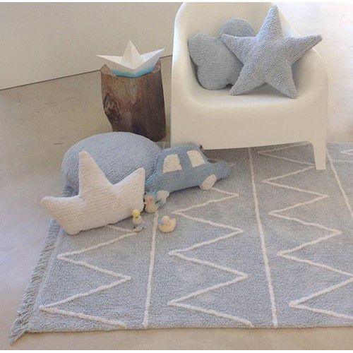 Tapete Lorena Canals Hippy Azul soft 120 x 160 cm