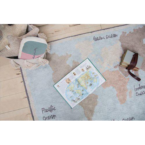 Tapete Lorena Canals Mapa mundi Vintage 140 x 200 cm