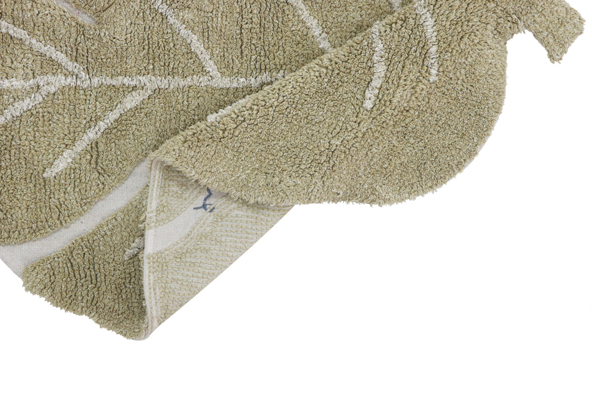Tapete Lorena Canals Mini Costela De Adão Olive 75 x 100 cm