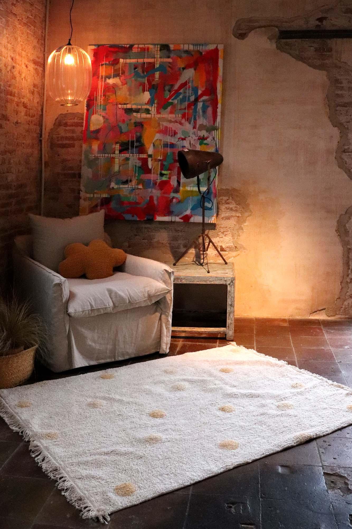 Tapete Lorena Canals Topos Hippy Honey 120 x 160 cm