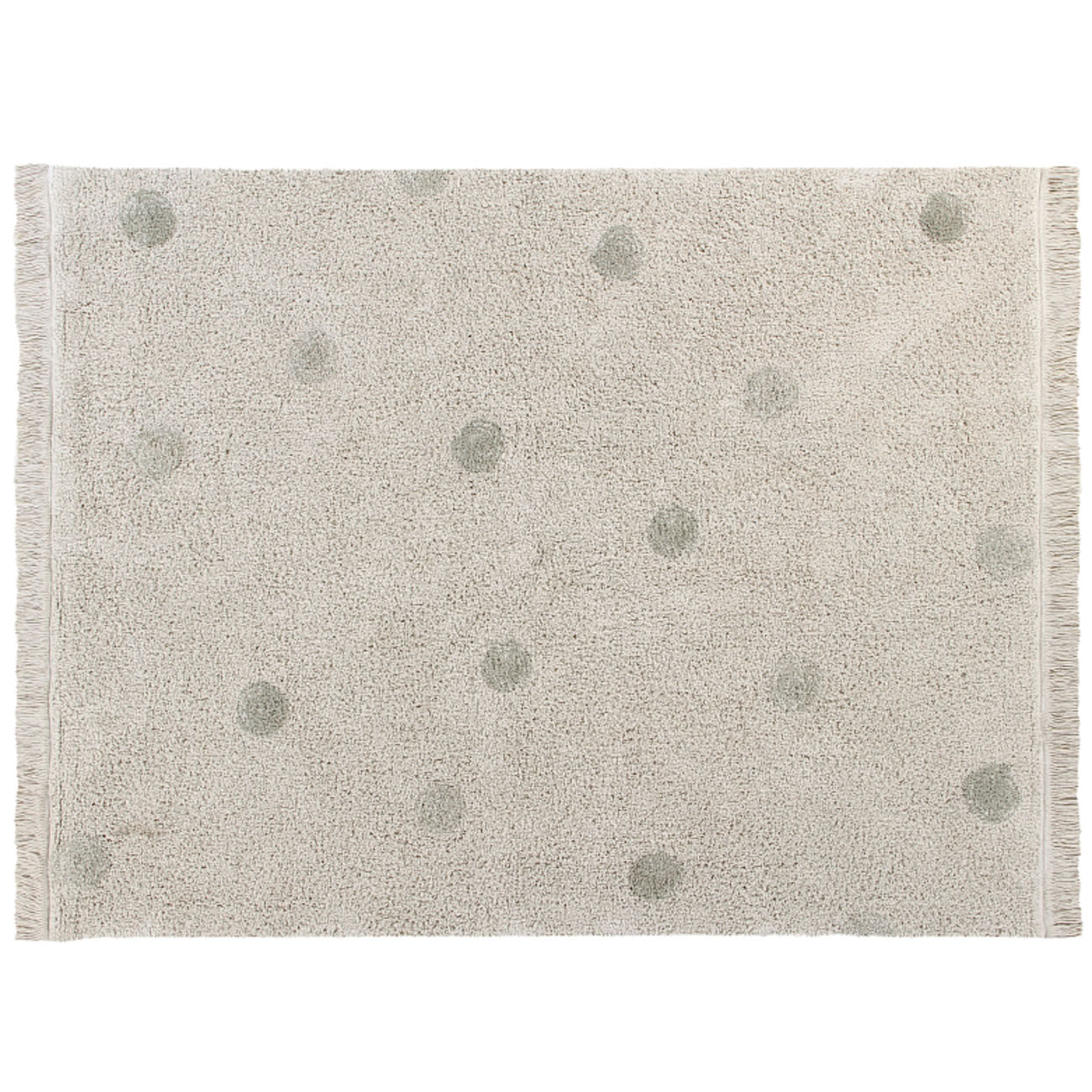 Tapete Lorena Canals Topos Hippy Olive 120 x 160 cm