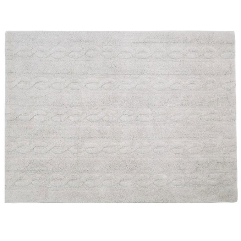 Tapete Lorena Canals Trança Cinza Perolado 120 x 160 cm