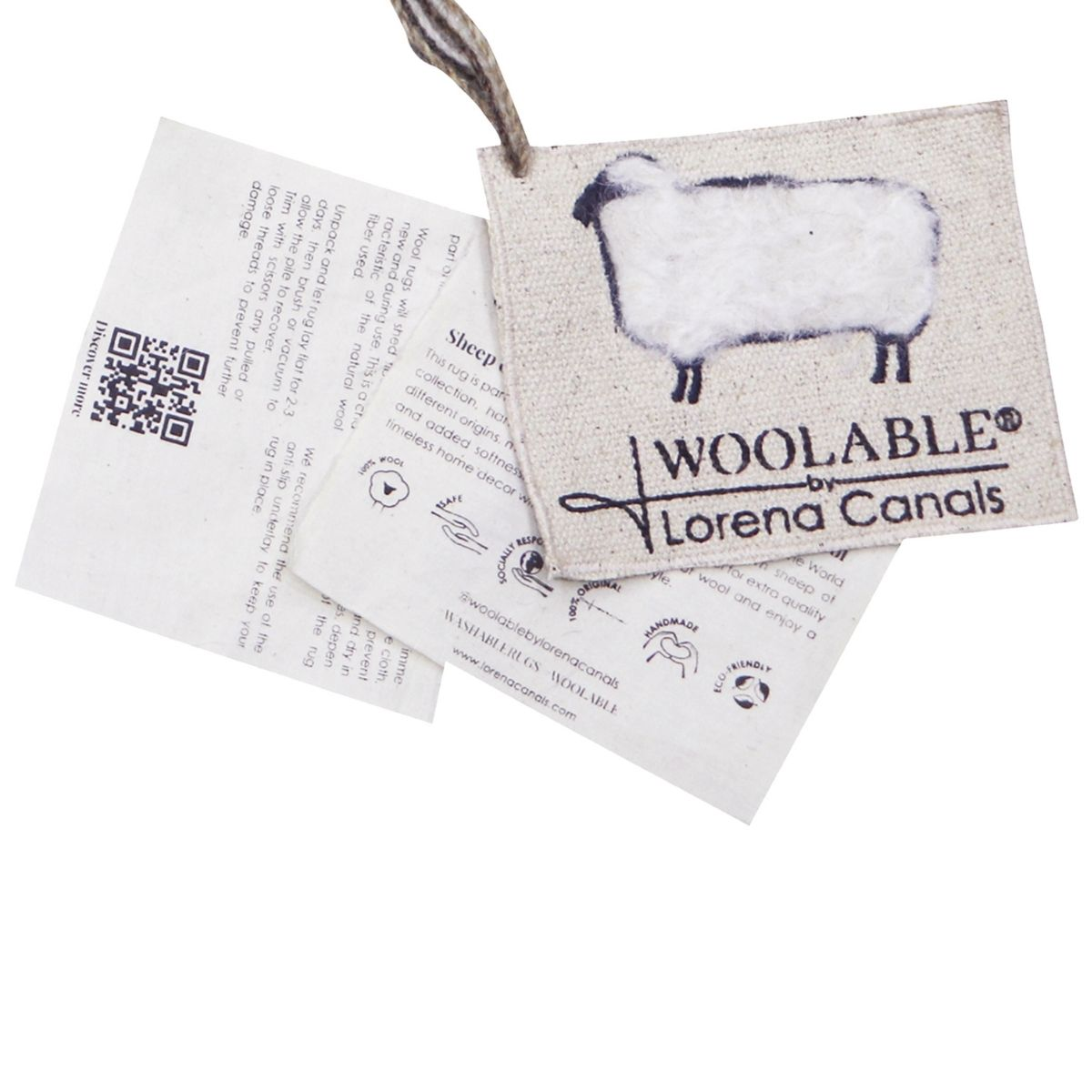 Tapete Lorena Canals Woolable Dunes Sheep Branco