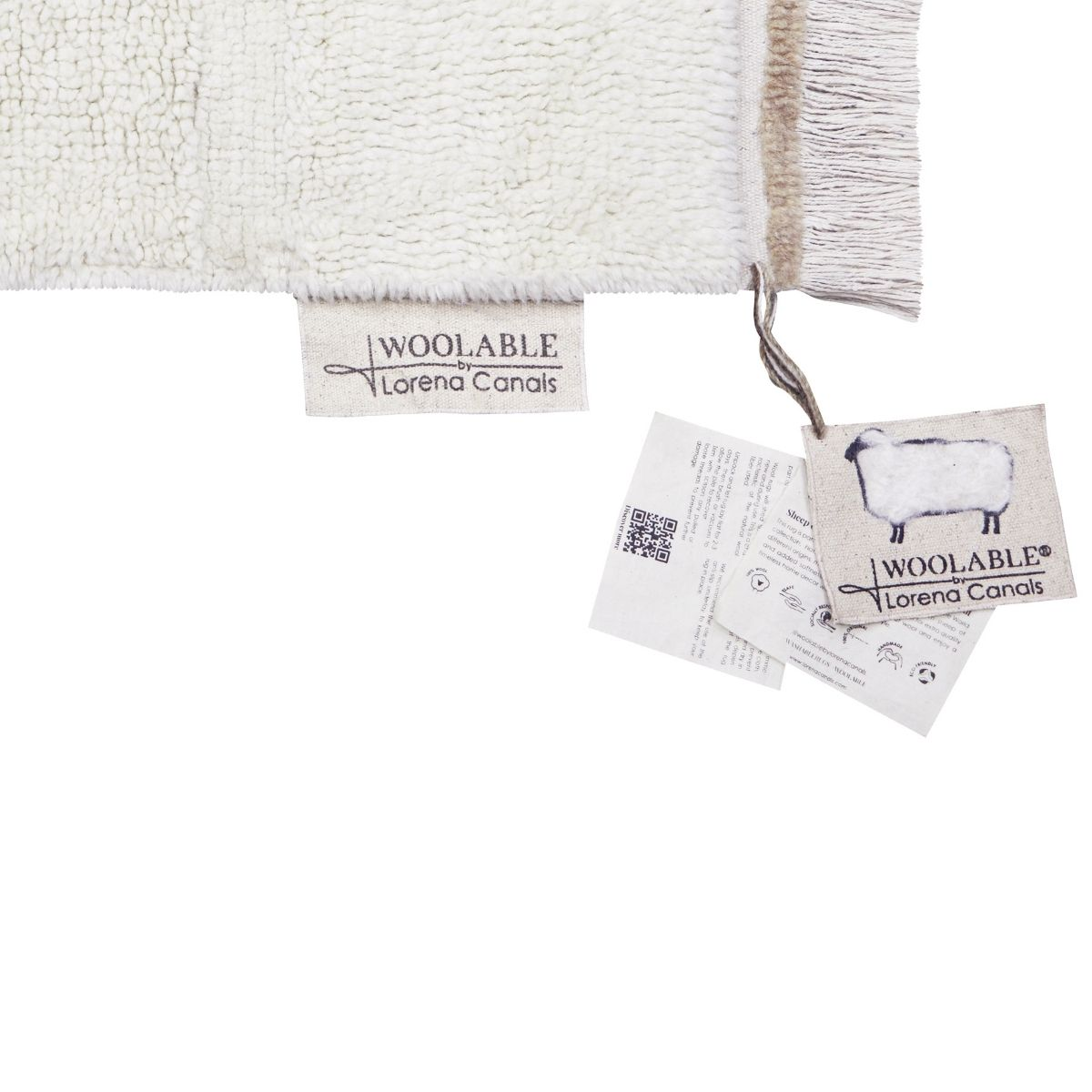Tapete Lorena Canals Woolable Steppe Sheep Branco
