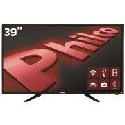 """Smart TV LED 39"""" HD Philco PH39N91DSGWA com Wi-Fi, ApToide, Som Surround, MidiaCast, Entradas HDMI e USB"""