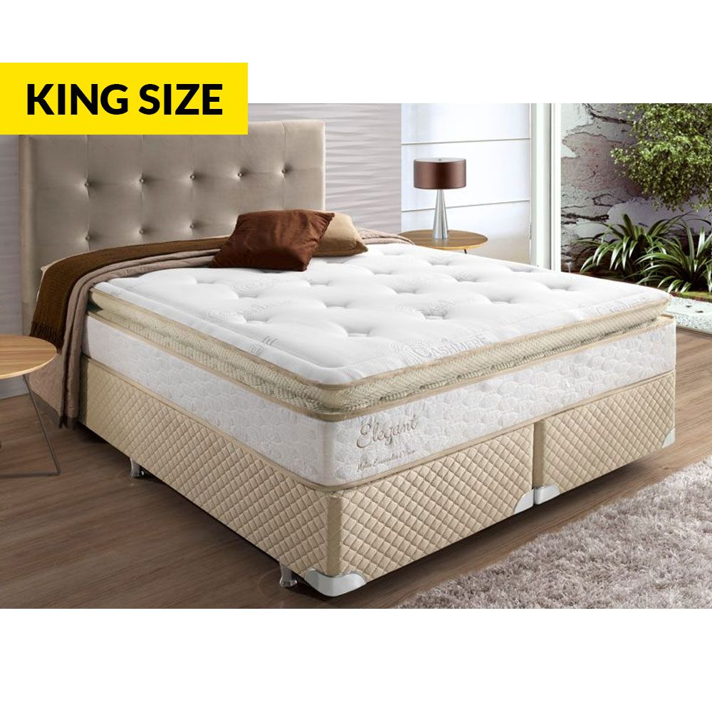 Box Herval Elegant Com Mola Ensacada One Sem Pillow 193 - King Size