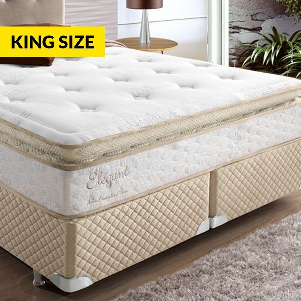 Box Herval Elegant Com Mola Ensacada One Sem Pillow 193 - King Size