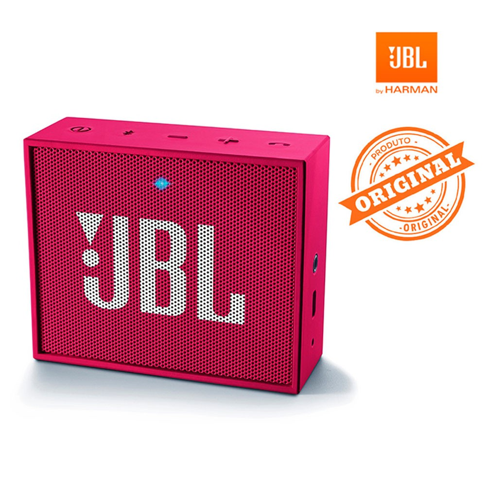 Caixa de Som JBL Go Acústica Portátil Bluetooth Rosa