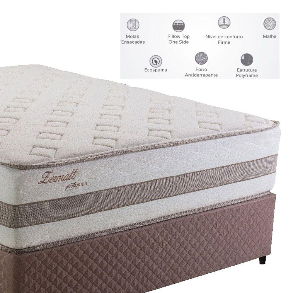 Cama Box Casal Herval Zematt One Side sem Pillow 193 x 203 x 64