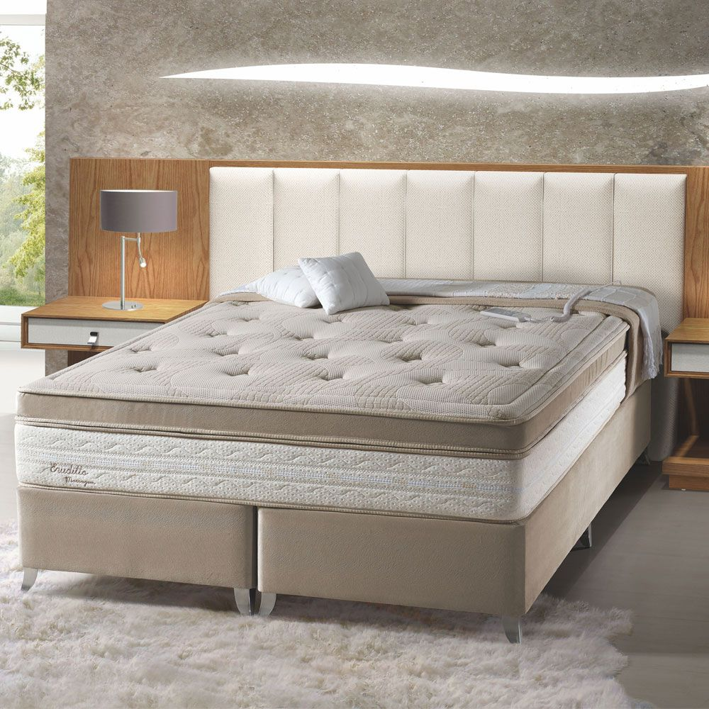 Cama Box Casal Queen Herval Erudito Massagem 158x198