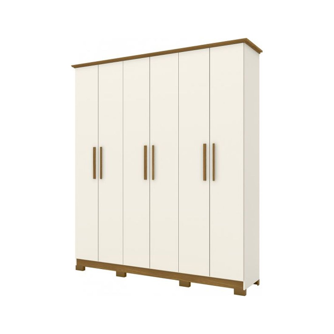 Guarda Roupa Henn 6 portas CoverOFF White/Nature