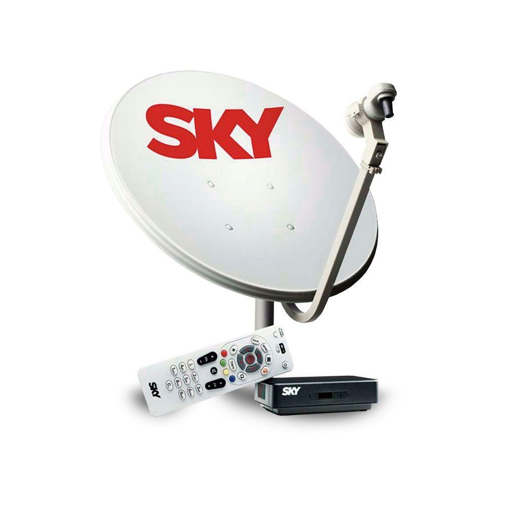 kit Antena com Receptor HD SKY Pré-Pago SH10