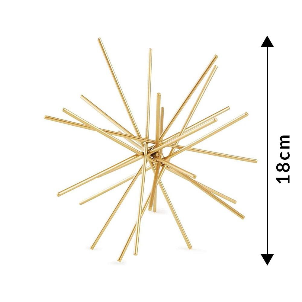 Ouriço 18cm Mart Dourado em Metal 10947