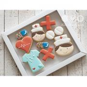 Caixa de Biscoitos Decorados tema: Enfermeiro e Médico