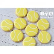 Conjunto de Biscoitos Decorados Bolas de Tênis - 6 unidades