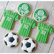 Conjunto de Biscoitos Decorados Time de Futebol (Palmeiras) - 7 unidades