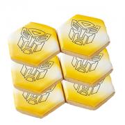 Conjunto de Biscoitos Decorados Transformers - 6 unidades