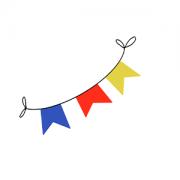 Cortador de Biscoito bandeirinhas- festa junina