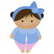 Cortador de Biscoito Boneca/ Menina de Pijama e coque