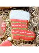 Cortador de Biscoito Bota do Papai Noel (Tema Natal)